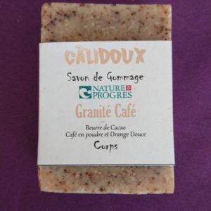 Savon gommant granité café Calidoux Aroma