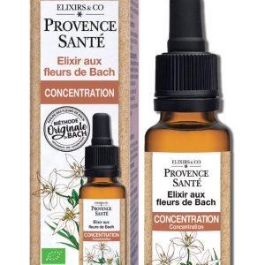 Elixir De fleurs de Bach, compte-gouttes - Concentration
